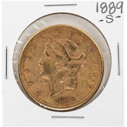 1889-S $20 Liberty Head Double Eagle Gold Coin