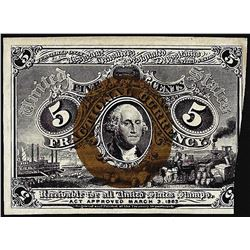 March 3, 1863 Five Cents Second Issue Fractional Currency Note