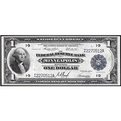 1918 $1 Federal Reserve Bank Note Minneapolis
