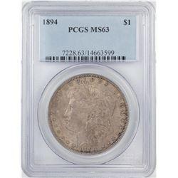 1894 $1 Morgan Silver Dollar Coin PCGS MS63