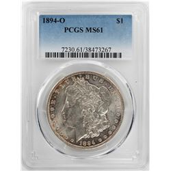 1894-O $1 Morgan Silver Dollar Coin PCGS MS61