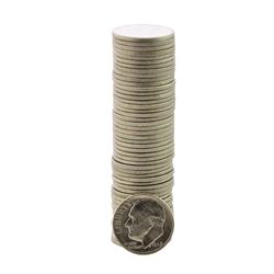 Roll of (50) Brilliant Uncirculated 1948 Roosevelt Dime Coins