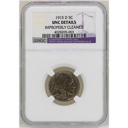 1915-D Buffalo Nickel Coin NGC Uncirculated Details