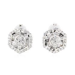 14KT White Gold 3.45 ctw Diamond Earrings