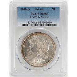 1900-O/CC VAM 12 $1 Morgan Silver Dollar Coin PCGS MS64 TOP 100
