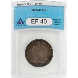 1855-O Seated Liberty Half Dollar Coin ANACS XF40