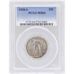 1928-S Standing Liberty Quarter Coin PCGS MS64