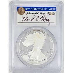 2006-W $1 Proof American Silver Eagle Coin PCGS PR69DCAM Edmund Moy Signature