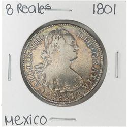 1801 Mo Mexico 8 Reales Silver Coin