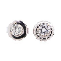 14KT White Gold 1.00 ctw Diamond Stud Earrings