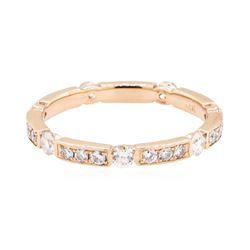 14KT Rose Gold 0.65 ctw Diamond Eternity Ring