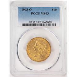 1903-O $10 Liberty Head Eagle Gold Coin PCGS MS63