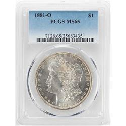 1881-O $1 Morgan Silver Dollar Coin PCGS MS65