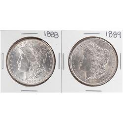 1888-1889 $1 Morgan Silver Dollar Coins