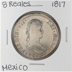 1817 Mo Mexico 8 Reales Silver Coin