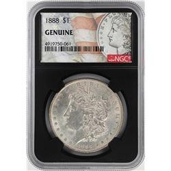 1888 $1 Morgan Silver Dollar Coin NGC Genuine