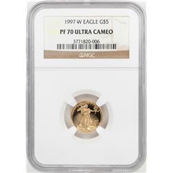 1997-W $5 Proof American Gold Eagle Coin NGC PF70 Ultra Cameo