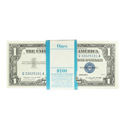 Pack of (100) 1957A $1 Silver Certificate Notes