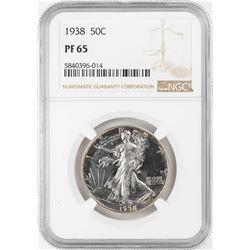 1938 Proof Walking Liberty Half Dollar Coin NGC PF65