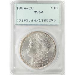 1884-CC $1 Morgan Silver Dollar Coin PCGS MS64 Old Green Rattler