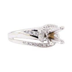 14KT White Gold 0.40 ctw Diamond Princess Semi-mount Ring