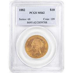 1882 $10 Liberty Head Half Eagle Gold Coin PCGS MS62