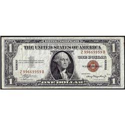 1935A $1 Hawaii Silver Certificate WWII Emergency Note Scarce ZB Block