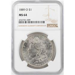 1889-O $1 Morgan Silver Dollar Coin NGC MS64