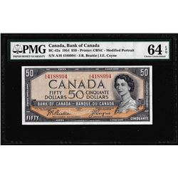 1954 $50 Bank of Canada Note BC-42a PMG Choice Uncirculated 64EPQ