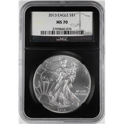2013 $1 American Silver Eagle Coin NGC MS70 Black Core