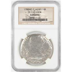 1780MO FF Mexico 8 Reales El Cazador Shipwreck Coin NGC Genuine