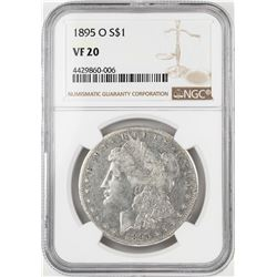 1895-O $1 Morgan Silver Dollar Coin NGC VF20