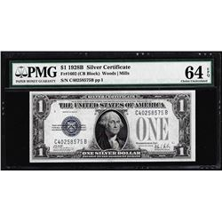 1928B $1 Funnyback Silver Certificate Note PMG Choice Uncirculated 64EPQ