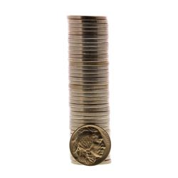Roll of (40) Brilliant Uncirculated 1938-D Buffalo Nickel Coins