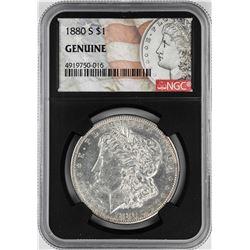 1880-S $1 Morgan Silver Dollar Coin NGC Genuine