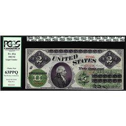 1862 $2 Legal Tender Note Fr. 41a PCGS Choice New 63PPQ