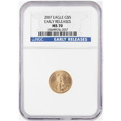 2007 $5 American Gold Eagle Coin NGC MS70 Early Releases