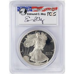 1993-P $1 Proof American Silver Eagle Coin PCGS PR69DCAM Moy Signature