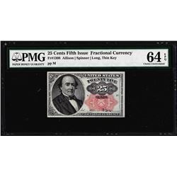 1874 25 Cent Fifth Issue Fractional Currency Note Fr.1308 PMG Choice Uncirculated 64EPQ