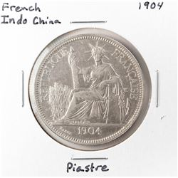 1904 French Indo-China Piastre Silver Coin
