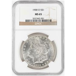 1900-O $1 Morgan Silver Dollar Coin NGC MS65