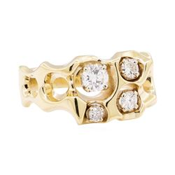 14KT Yellow Gold 0.94 ctw Diamond Ring