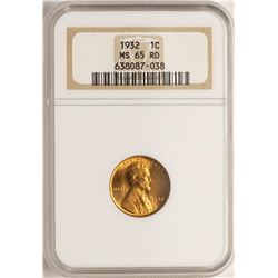 1932 Lincoln Wheat Cent Coin NGC MS65RD