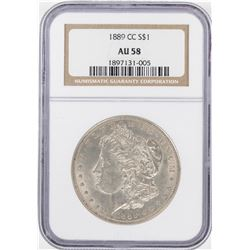 1889-CC $1 Morgan Silver Dollar Coin NGC AU58