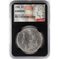 1900 $1 Morgan Silver Dollar Coin NGC Genuine