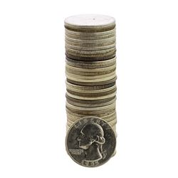 Roll of (40) Brilliant Uncirculated 1955 Washington Quarter Coins