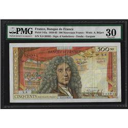 1959-65 France 500 Nouveaux Francs Currency Note Pick# 145a PMG Very Fine 30