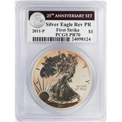 2011-P $1 Reverse Proof American Silver Eagle Coin PCGS PR70 First Strike