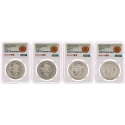 Lot of (4) 1968Mo Mexico 25 Pesos Olympics Commemorative Silver Coins NGC MS64
