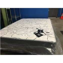 DR COMFORT QUEEN SIZE COIL MATTRESS WITH BED FRAME-IN BOX
